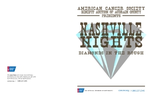 American Cancer Society Audrain Auction Program Cover- 2011